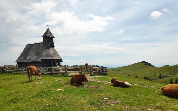 Eglise de Velika Planina en Slovénie