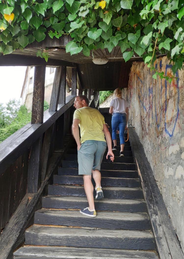Passage couvert vers le château de Ptuj