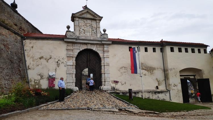 Entrée du château de Ptuj, Slovénie
