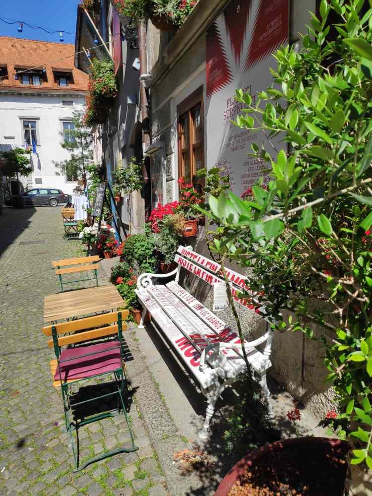 Jolie ruelle de Ljubljana : Krizevniska ulica