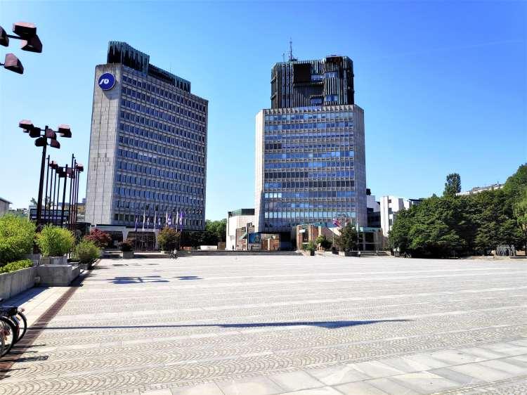 Trg Republike, Ljubljana. Architecture du bloc de l'Est