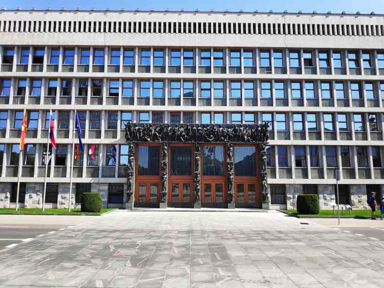 Le Parlement slovène à Ljubljana