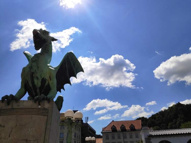 Emblème de Ljubljana, le pont aux dragons.