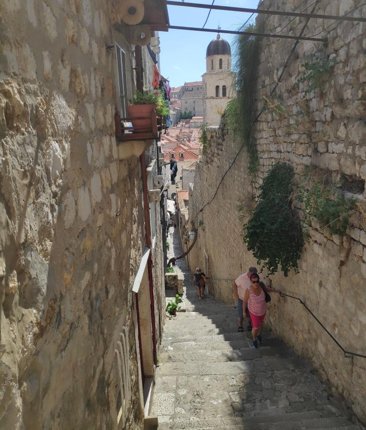 Ruelle et escaliers de Dubrovnik