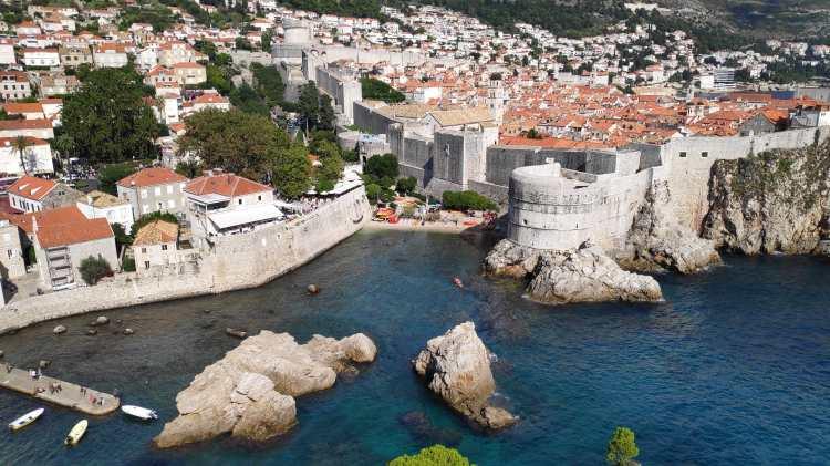 Vue depuis le fort Saint-Laurent de Dubrovnik