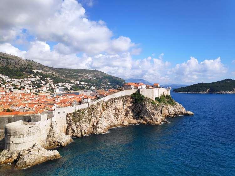 Vue depuis le fort Saint-Laurent à Dubrovnik