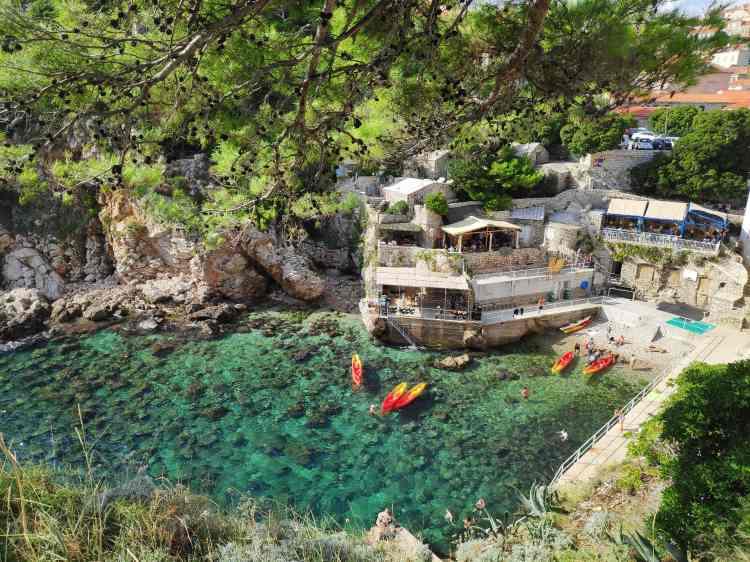 Petite crique à Dubrovnik
