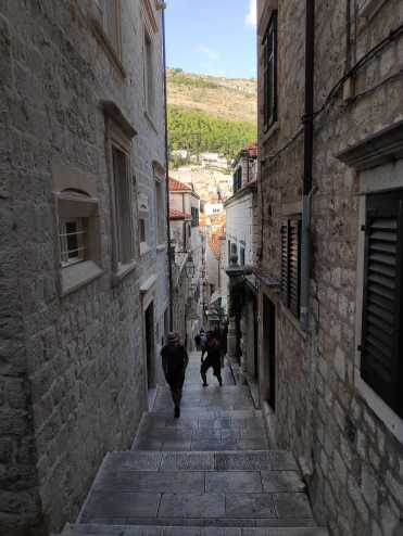 Ruelle de marbre. Dubrovnik.