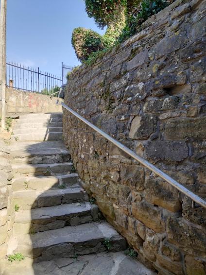 Escaliers de Piran en Slovénie