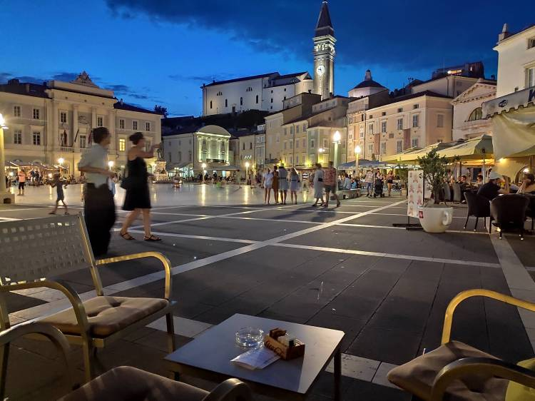 Place Tartini à Piran en Slovénie