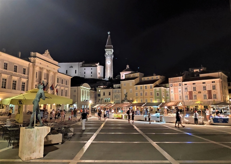 Piran, la Place Tartini