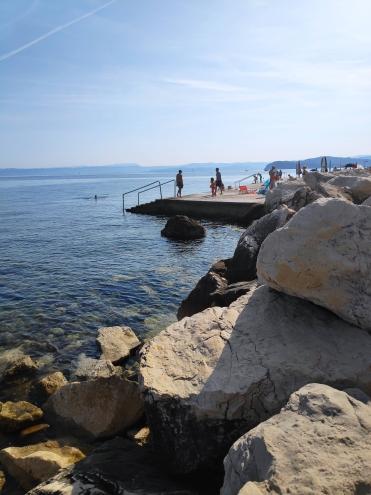 Baignade à Piran