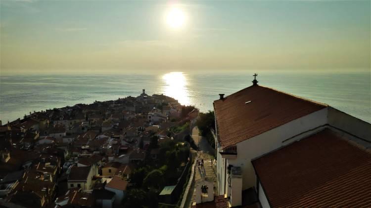 Coucher de soleil sur Piran depuis le Campanile