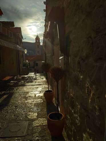 Lever de soleil sur les ruelles de Dubrovnik