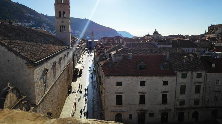 Stradun depuis les remparts, Dubrovnik