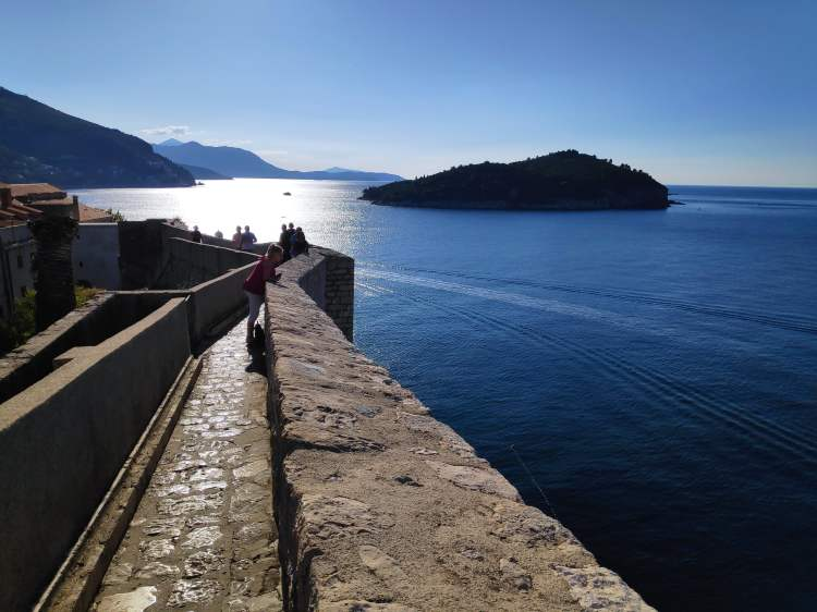Sur les remparts de Dubrovnik