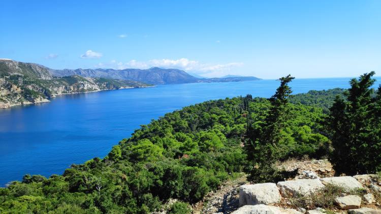 Point de vue depuis le sommet de l'île de Lokrum