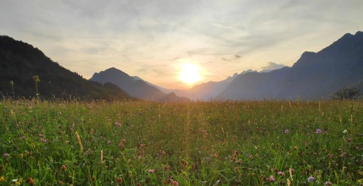 Coucher de soleil à Dreznica