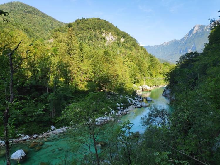 La rivière Soca en Slovénie