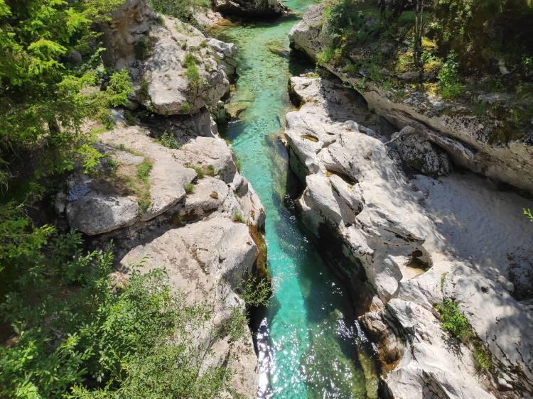 Petites Gorges de la Soca. Slovénie