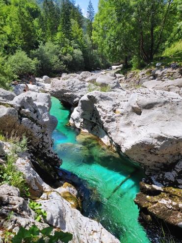 Slovénie. Petites Gorges de la Soca