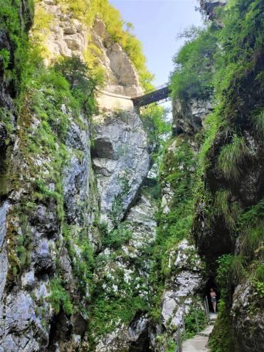 Pont du diable au Gorges de Tolmin