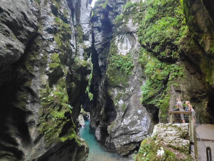 Dans les Gorges de Tolmin en Slovénie