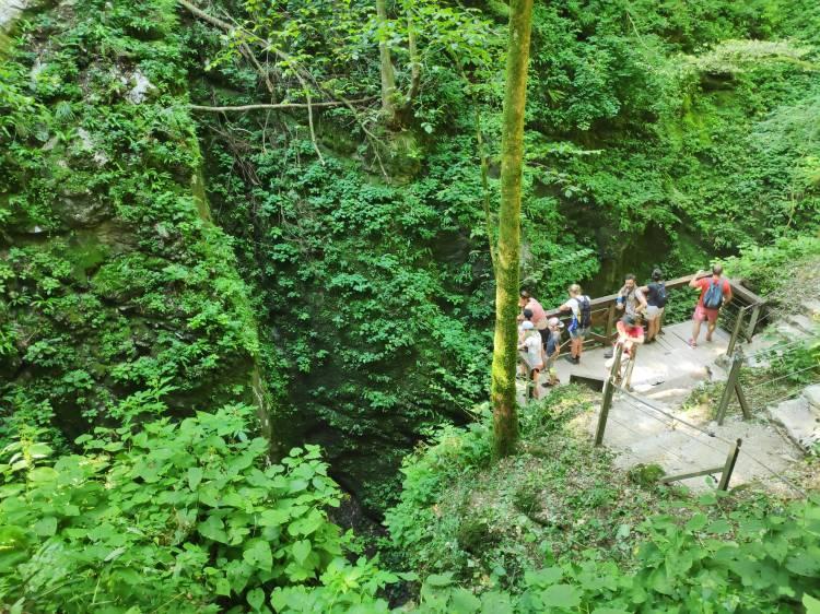 Gorges de Tolmin en Slovénie