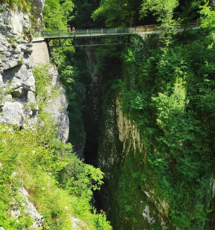 Pont du Diable. Gorges de Tolmin