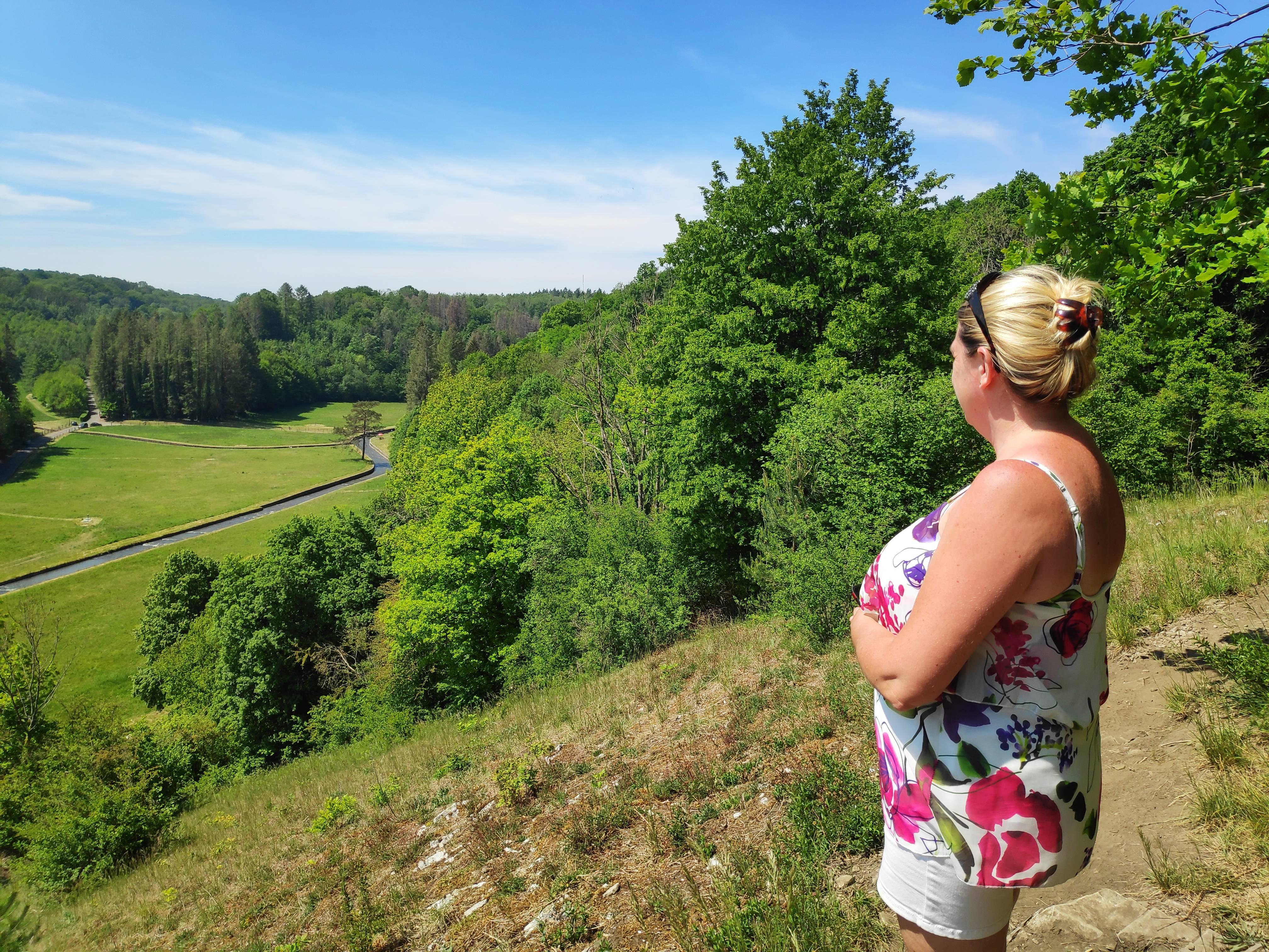 Point de vue sur la vallée du Hoyoux